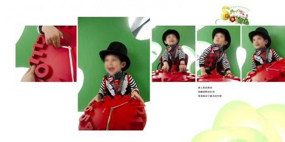 本張兒童藝術照模板使用了五張兒童照片,以白色調作為本張兒童相冊模板背景的主色調,中左邊的那張豎版兒童照片是本張兒童藝術照模板展現的重點,照片中的小男孩坐著,露出了開心的笑容,比較的可愛,左邊使用了一張方形兒童照片,同時搭配以藝術線條、精美的藝術文字等元素所綜合設計而成,右邊則使用了三張豎版兒童照片,隸屬于兒童藝術照模板 開往春天的時光系列中的第四張模板,詳細效果請見下面的JPG縮略圖。