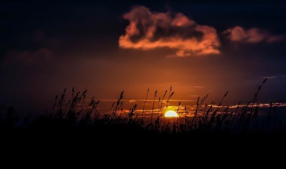夕阳余晖唯美风景精美图片