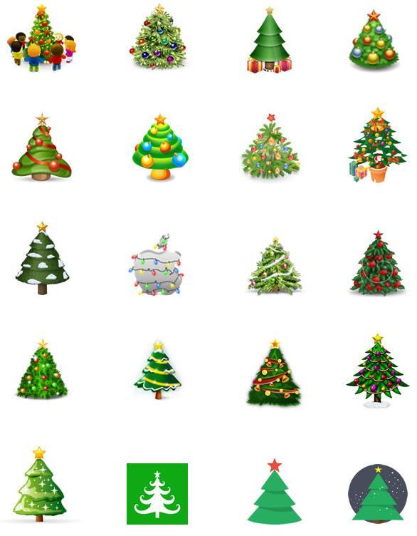 中也设计了多款以圣诞树为主题的图案造型,其中还有圣诞树上挂满了