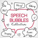 手绘语言气泡设计AI素材