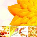 5款秋天泛黄树叶矢量素材设计