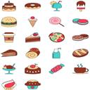 22款卡通美味食物ico图标