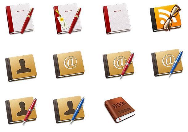 记事本一般都是记录生活中或是工作中比较重要的信息来使用的,那么也可以用作图标的图案设计大家知道吗?不知道可以选择这款多种记事本ico图标仔细了解下,其中设计了多款不同颜色的笔记本和钢笔的造型图标,而且笔记本上还加入了人物,字体,无线等元素的设计,需要就来本站下载吧。