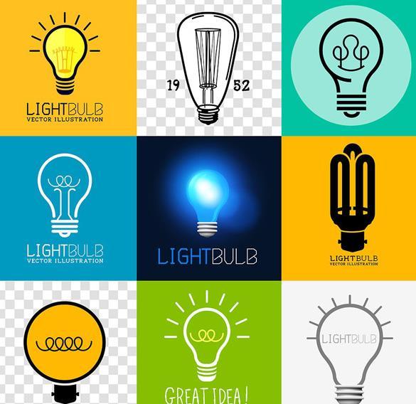 爱迪生最给力的发明之一就是电灯泡了,那么这款9款创意电灯泡设计矢量素材中也设计了以电灯泡有关的素材,其中共计9款不同颜色和造型的灯泡设计,都包括了手绘电灯泡,扁平化电灯泡,卡通形式展现的电灯泡等等造型设计,而且背景颜色也是不同的,需要以电灯泡为题材可以来本站下载。