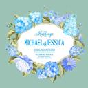 蓝色花卉装饰边框图案矢量素材设计