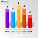 彩色柱状图数据信息图矢量素材图片