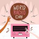 彩色世界无线电日插画矢量素材设计