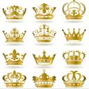 12款金色质感皇室皇冠AI素材