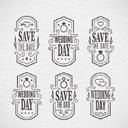 创新婚礼标签设计AI素材