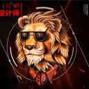 設計師招聘個性獅子頭海報psd素材