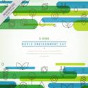 彩色抽象世界环境日贺卡矢量图片素材