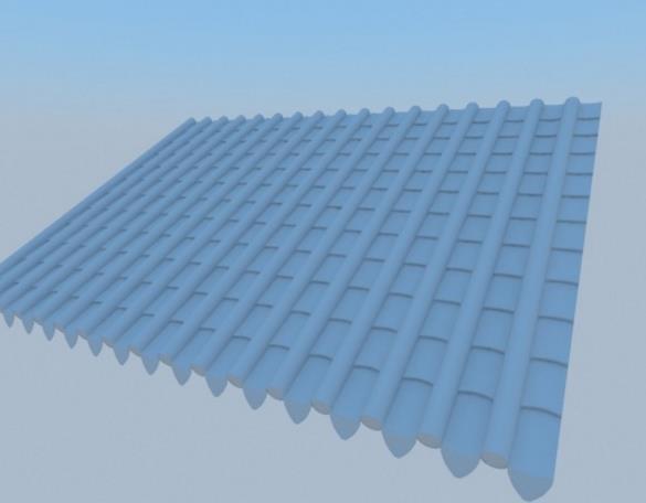 室外屋頂琉璃瓦3d模型介紹
