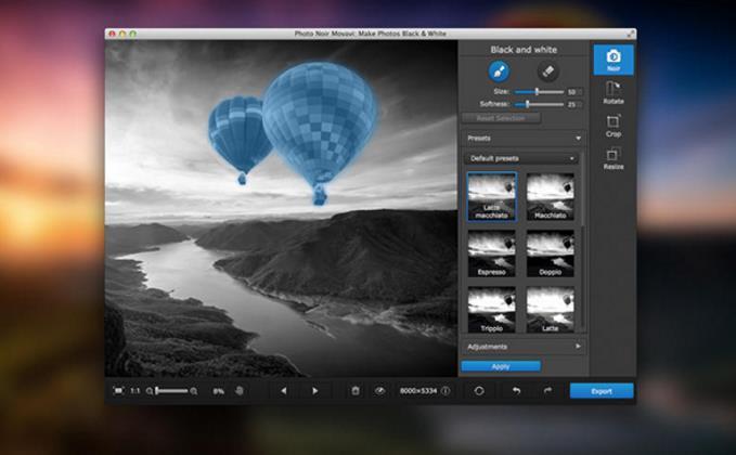 movavi photo noir 苹果电脑版界面图片