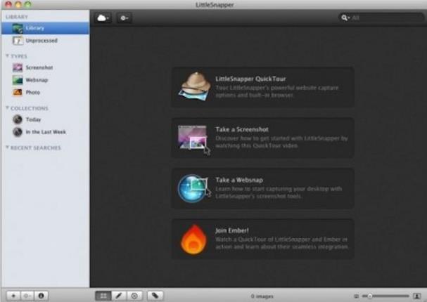 for mac的图像捕捉软件哦,littlesnapper for mac可以抓取网页全屏