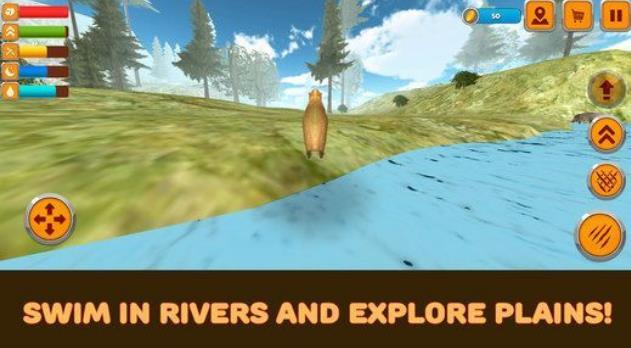生活有趣的啮齿动物 - 巨型豚鼠!养殖和养育幼崽,避免捕食者并与水豚模拟器3D玩乐! 南美洲的热带森林和平原是野生的,充满了不同的怪物动物!穿过美丽的丛林和干旱的平原,寻找食物,害怕残酷的捕食者隐藏在无处不在!认识其他水豚模,争取你的生活,找到你的伴侣做一个家庭,抚养你的小崽!享受野蛮大自然的意见,找到苹果来填饱肚子,尽力生存! 保护你的小后裔免受像狼,鳄鱼和狐狸这样残酷的敌人!他们可以突然袭击你,所以肆意捍卫,尽一切可能生存下去!其他食草动物,如公猪,羊和兔子,不是你的敌人,但他们是你的直接对手,所以无