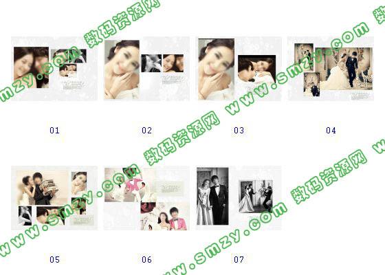 【婚纱照相册模板 浓情时刻】-整套JPG预览图