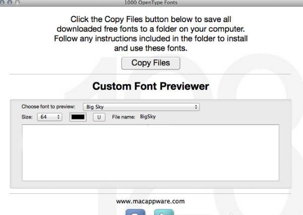 1000 OpenType Fonts for Mac特色