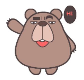 翔通动漫熊qq表情包下载(高冷表情图片) v1.0 最新版图片