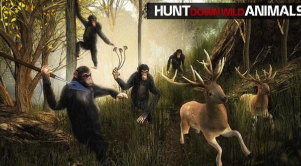 猿的生活丛林生存手游游戏特色图片