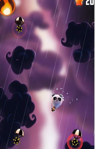 玩家可以选择不同的动物进行闯关 小动物身上挂着气球,不断向上飞升