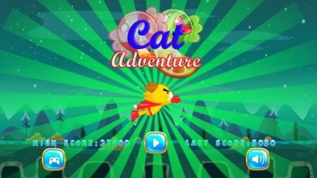 黄猫天空冒险在天空是有趣的游戏适合所有年龄段。 只要飞,吃糖果和束缚,摧毀障碍物,收集天空下随机的特殊礼物。 使用屏幕上的左箭头触摸上下移动超级猫,右侧发射火力。 通过航点收集力量和奖金来提升分数。 请勿尝试触摸飞机或其他障碍物,记录最长距离,否则超级猫会被浪费。 尝试一下,享受吧!