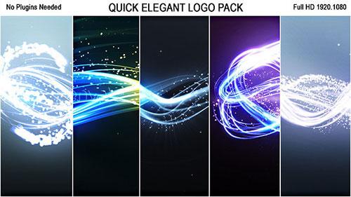 5款梦幻粒子光效LOGO片头模板下载