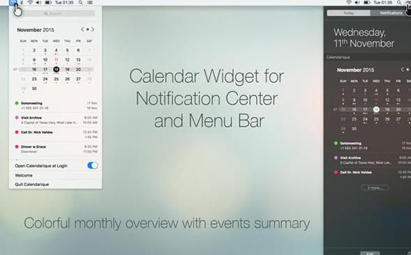 calendarique苹果电脑版界面图片