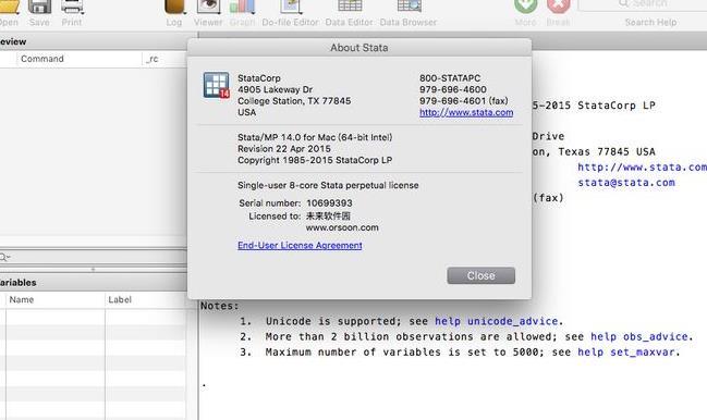 stata 12苹果电脑版界面图片
