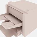 辦公米白色3D打印機模型貼圖