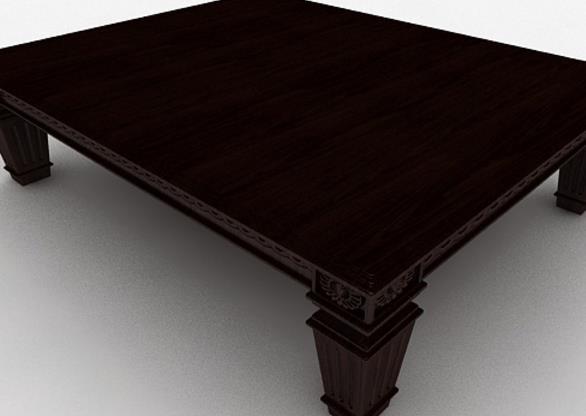 3d木质棕色茶几模型介绍