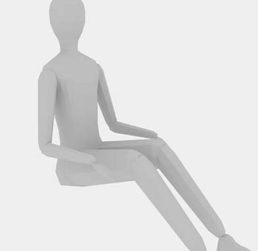 人體坐姿3Dmax模型