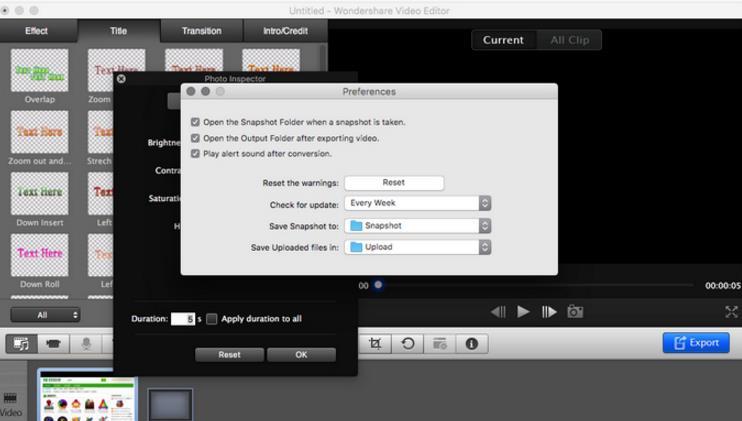 wondershare video editor 2苹果电脑版界面图片