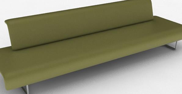 綠色簡約多人沙發3d模型貼圖特色