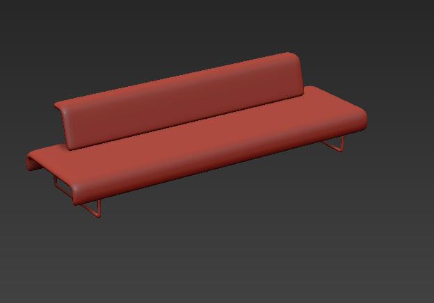 綠色簡約多人沙發3d模型貼圖