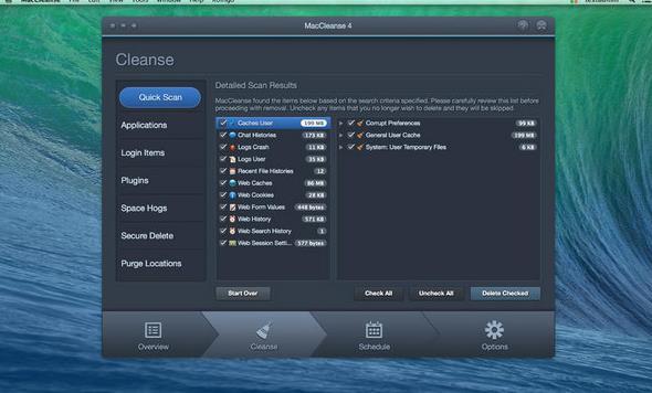 maccleanse苹果电脑版界面图片