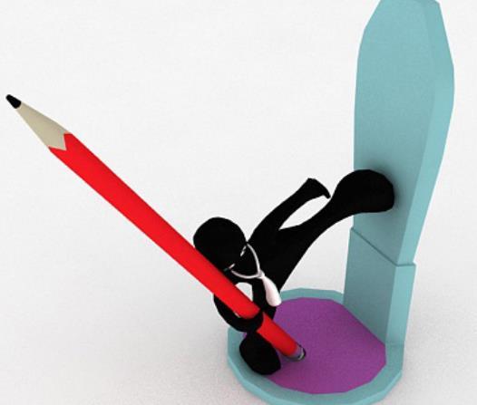 个性办公笔架3D材质模型介绍