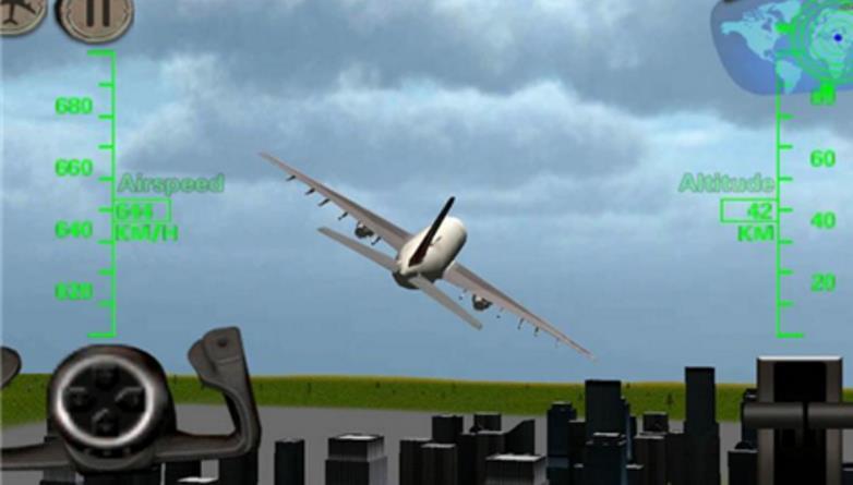 游戏里玩们可以模拟驾驶飞机,并且在游戏里完成一系的飞行任务.