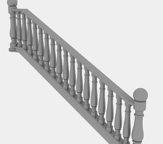 首页 3d模型下载 3d模型 铁艺栏杆 > 欧式楼梯栏杆3d免费模型下载