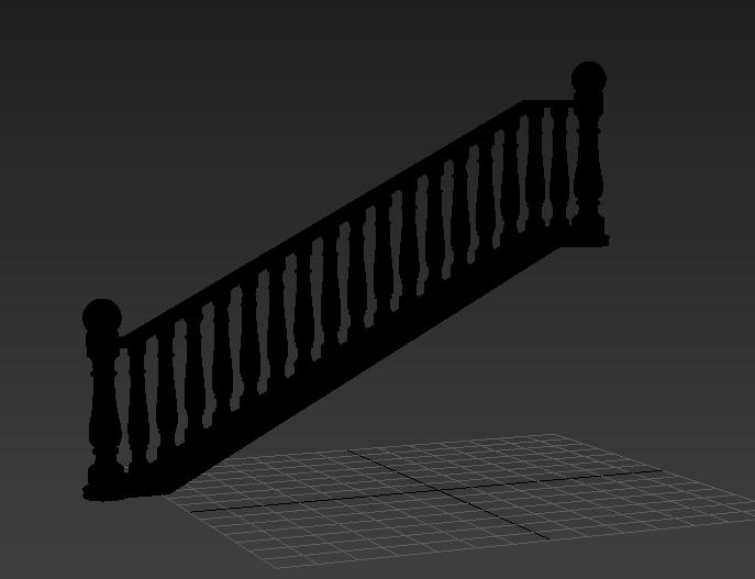 首页 3d模型下载 3d模型 铁艺栏杆 > 欧式楼梯栏杆3d免费模型下载   8