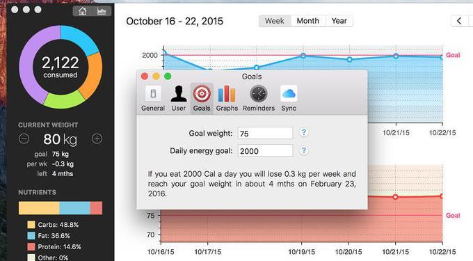 calories counter苹果电脑版界面图片