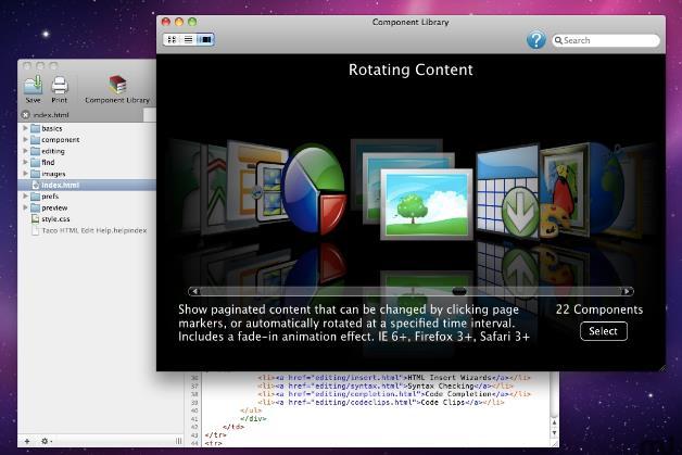 taco html edit苹果电脑版界面图片