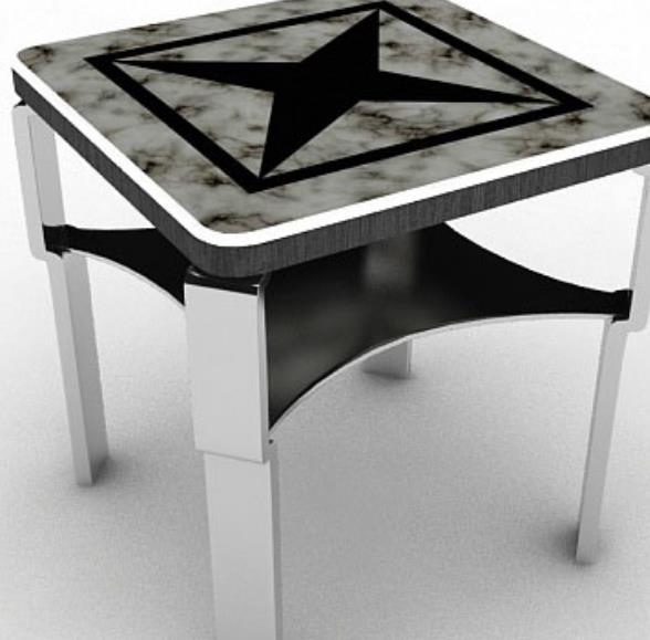 简约家居小茶几3D免费模型下载图片