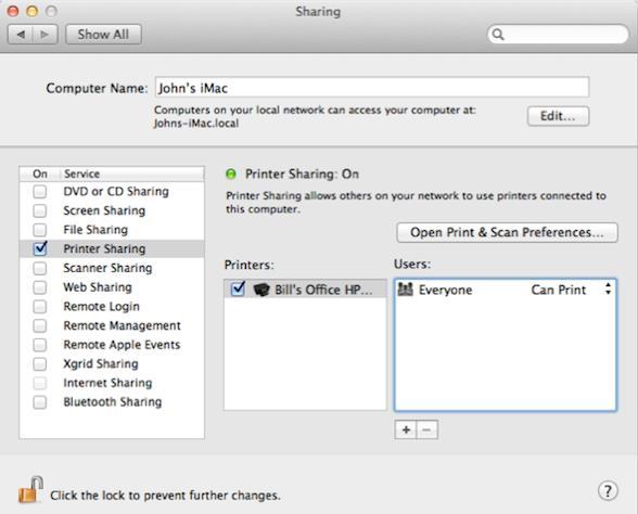 mac平台上如何使用共享打印机介绍
