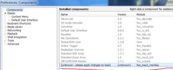 foobar2000无法播放APE格式怎么办