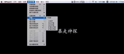 如何选择苹果电脑系统播放器的声道介绍