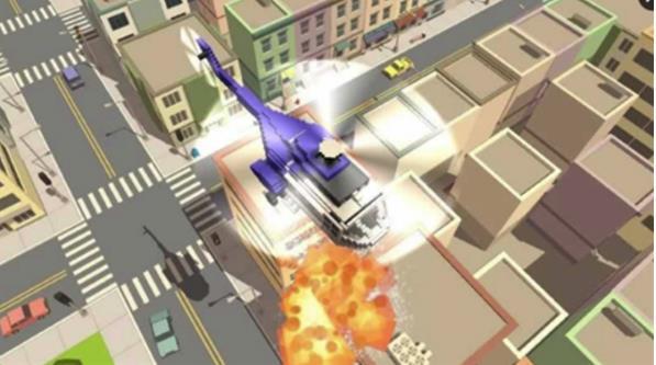 在游戏中,玩家需要模拟驾驶方块直升飞机,面对各种sos任务,出色地去