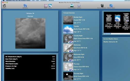 在iOS 设备上广受好评的Weather 是由Vimov 所推出的一款天气预报app ,其呈现使用者当地或者所设定地点的当时天气状况,以及未来的天气预报。  而用美好的动画带给使用者身历其境的氛围;就好像使用iPhone 或iPad ,通过屏幕看到了户外的世界一样。  也难怪Weather 虽然以非免费的app 形态上架,但依然获得了不错的销售成绩,自推出以来也一直保持在App Store 前20 名热门付费app 的排行榜上。