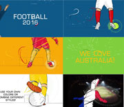 足球体育栏目包装MG动画模板