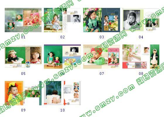 【儿童相册模板 迷你酷】-整套JPG预览图