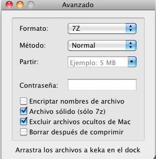 keka for Mac界面